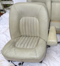 Rover P5B Seat Restoration Before