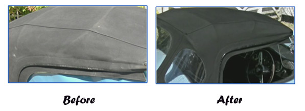 Black Convertible Roof Canvas Dye Soft Top Reviver