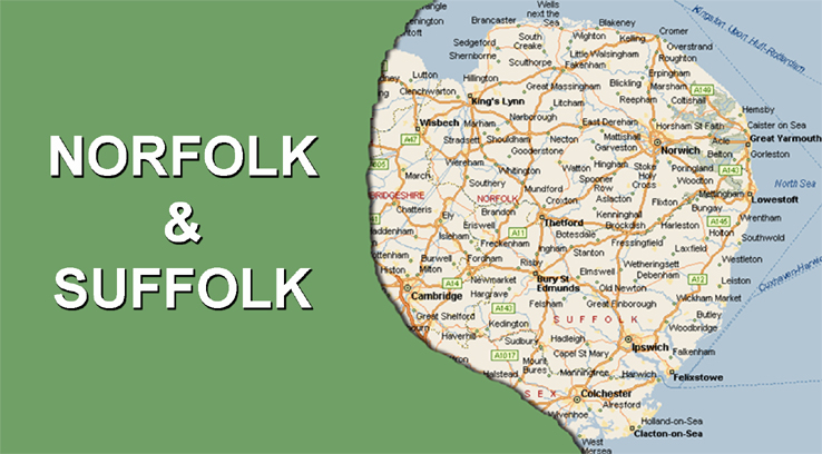 Map Of England Norfolk.Leather Repair Norwich Norfolk Cleaning Restoration Vinyl Repairs