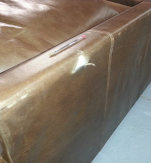 Aniline Sofa Tear Before