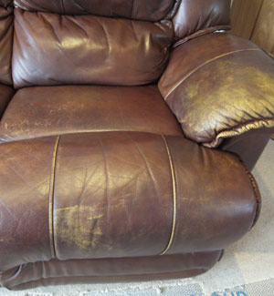 Leather Sofa Colour Loss Before