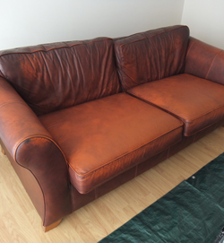 Leather Sofa Wear Before