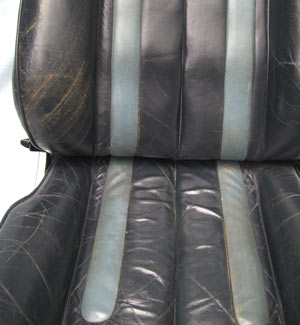 Ferrari Car Seat Restoration Before